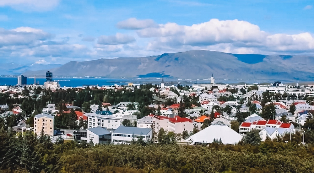 View over Reykjavik from the Perlan Science Museum