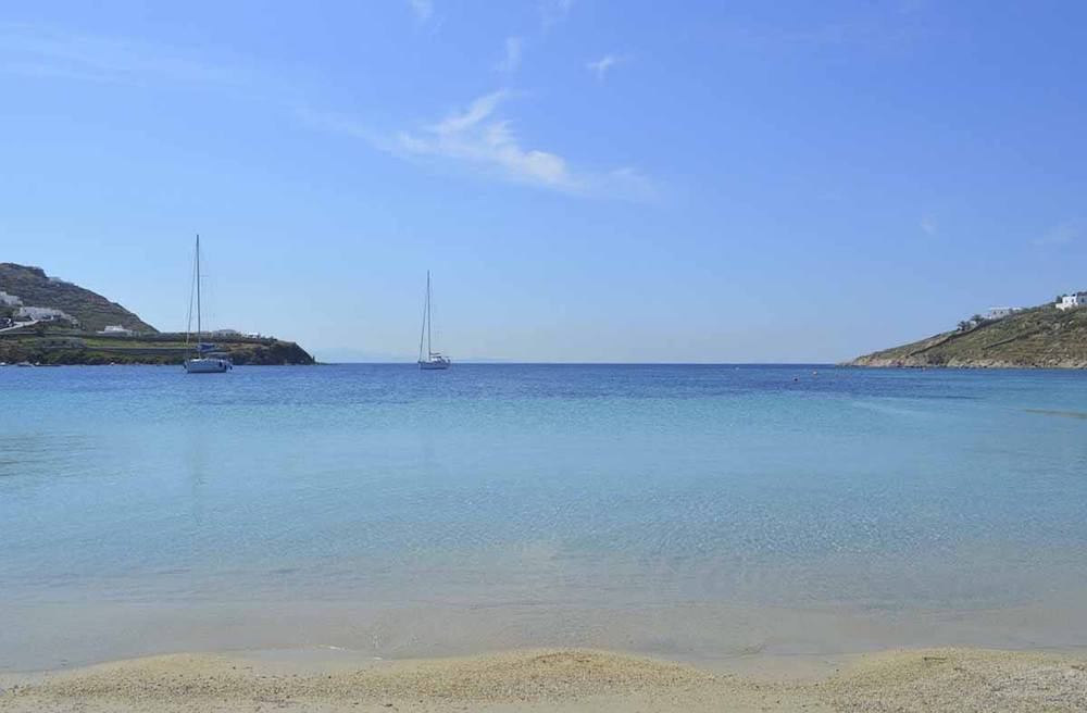One of the beautiful beaches in Mykonos, photo by The Crowded Planet