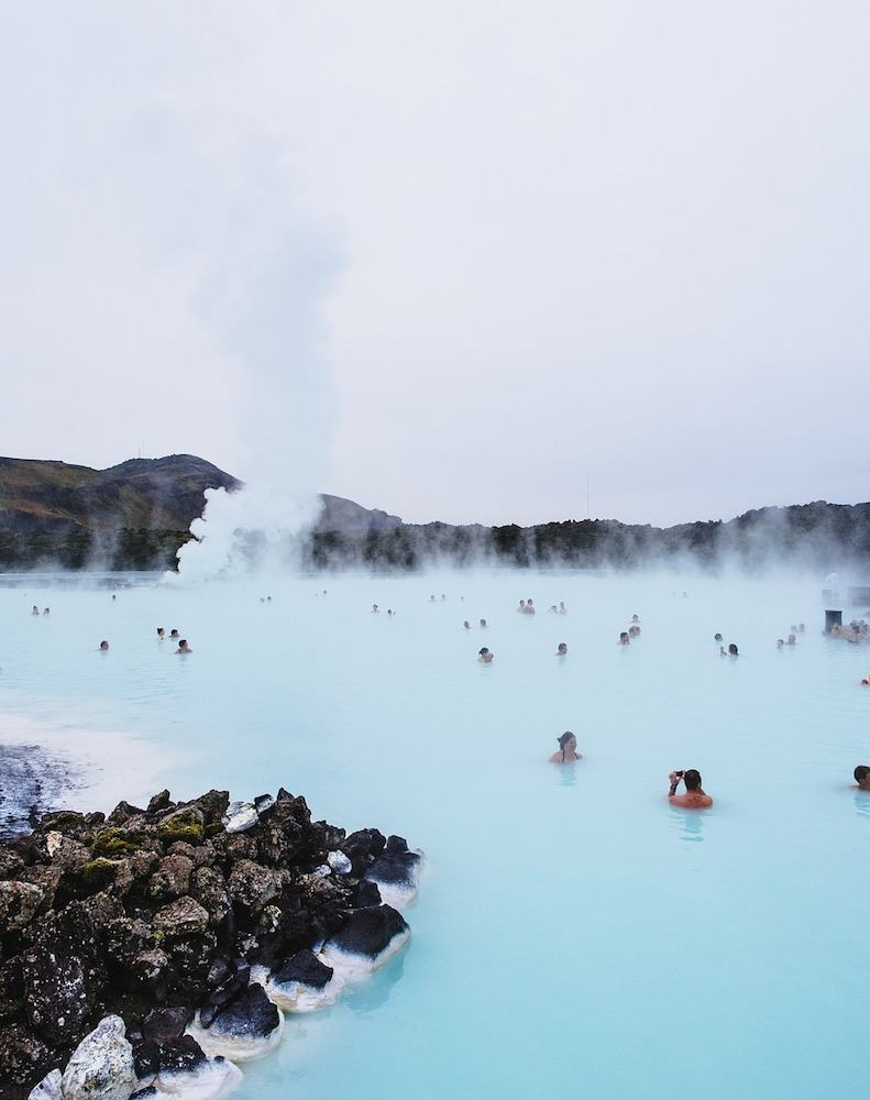 The famous Blue Lagoon Thermal Pools in Iceland