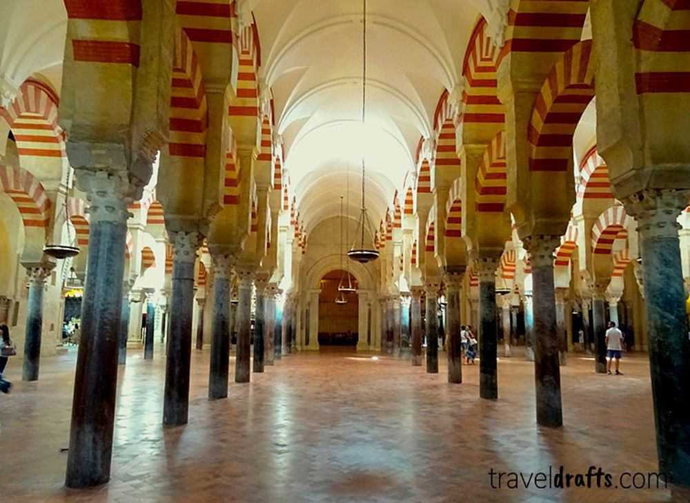 The inside of the Great-Mosque Cathedral of Cordoba, photo by Travel Drafts