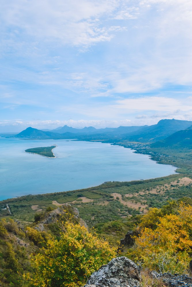 Stunning views over Mauritius from the top of Le Morne Brabant