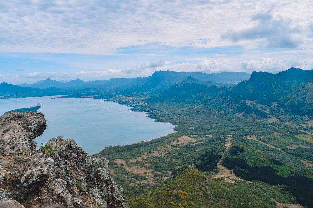 Epic views over Mauritius from the top of Le Morne Brabant