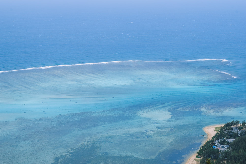 From the top of Le Morne Brabant you can spot the underwater waterfall of Mauritius!