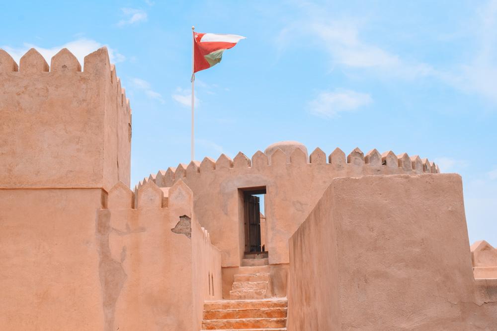 One of the turrets in Al Rustaq fort in Oman