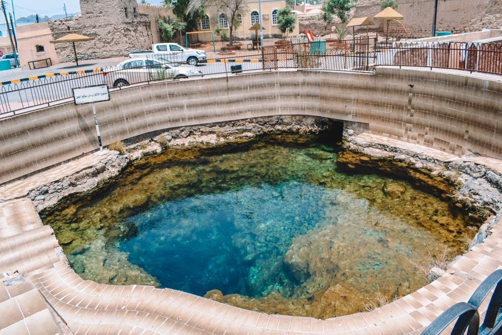 Al Kasfah hot water spring in Al Rustaq, Oman