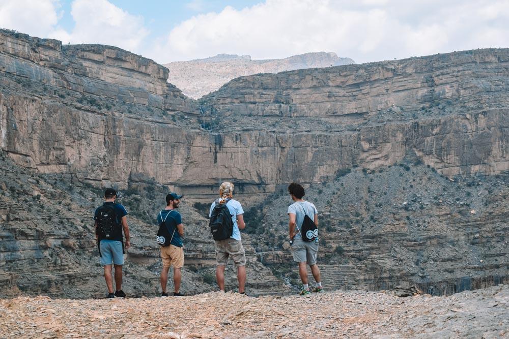 Admiring the views along the Jebel Shams balcony walk