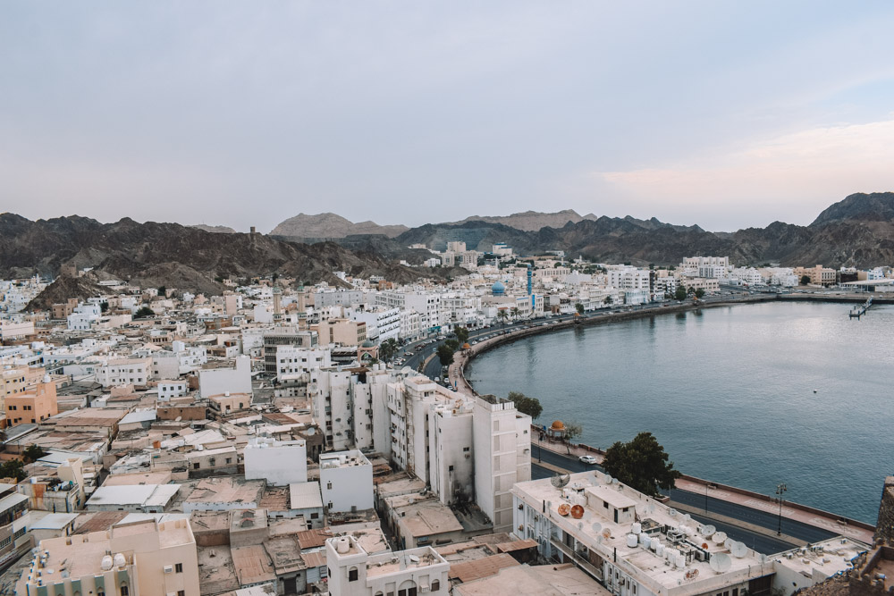The view over the Muscat harbour from Mutrah fort