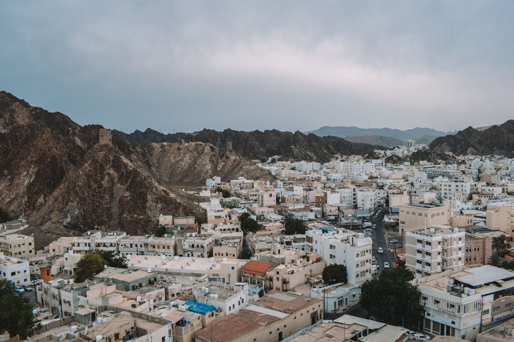 The view over Muscat from Mutrah Fort, in Oman