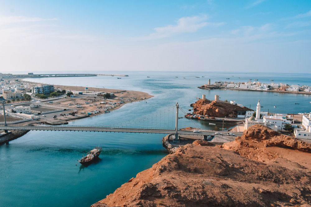 Beautiful views over the Sur harbour in Oman