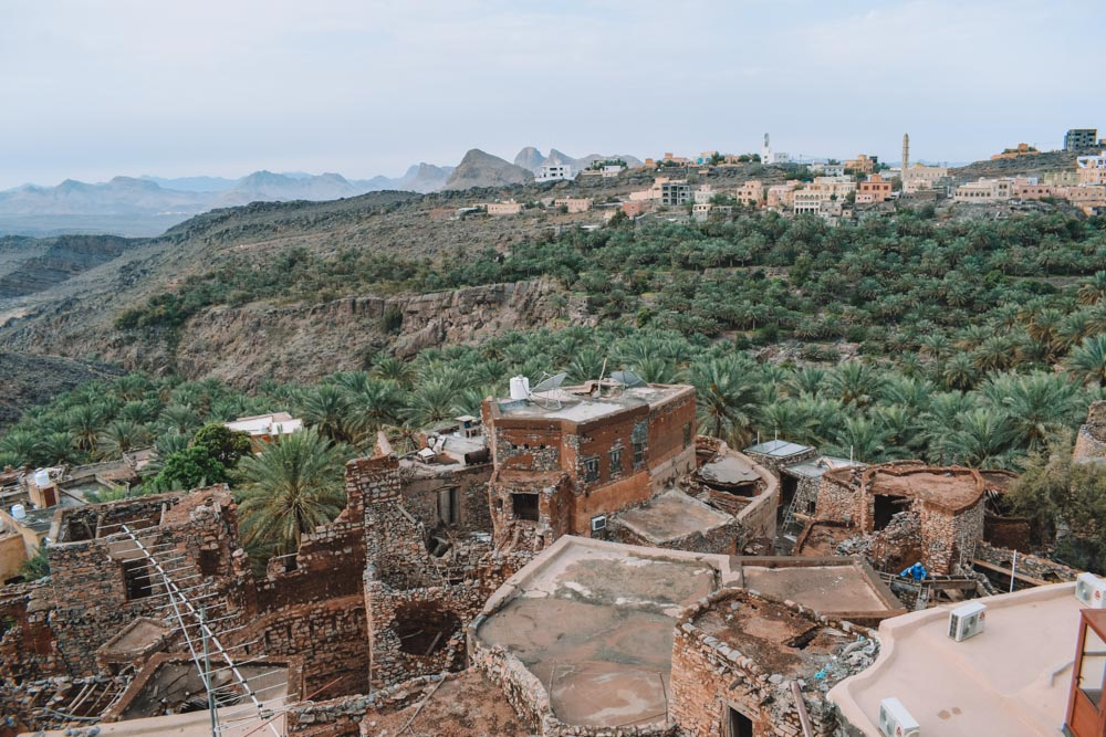 View from the rooftop of the Al Misfah guest house in Misfah Al Abrynn, Oman