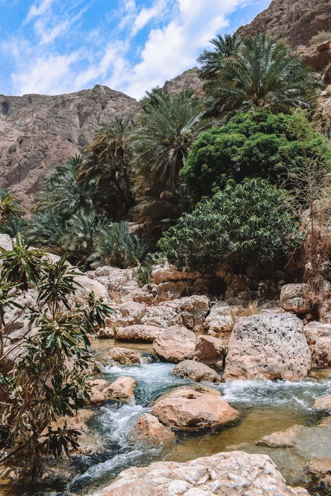 Exploring the Wadi Shab, Oman