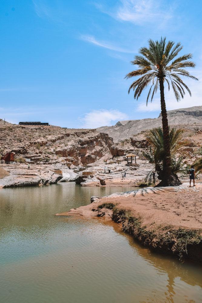 Exploring the Wadi Bani Khalid in Oman