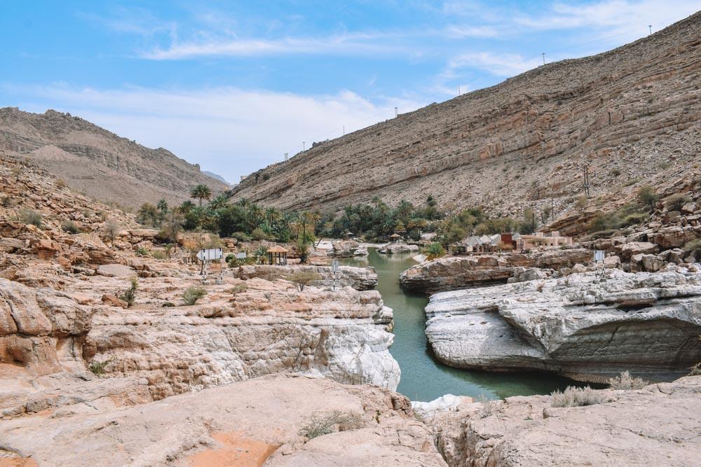 Views from the Wadi Bani Khalid before entering the actual canyon