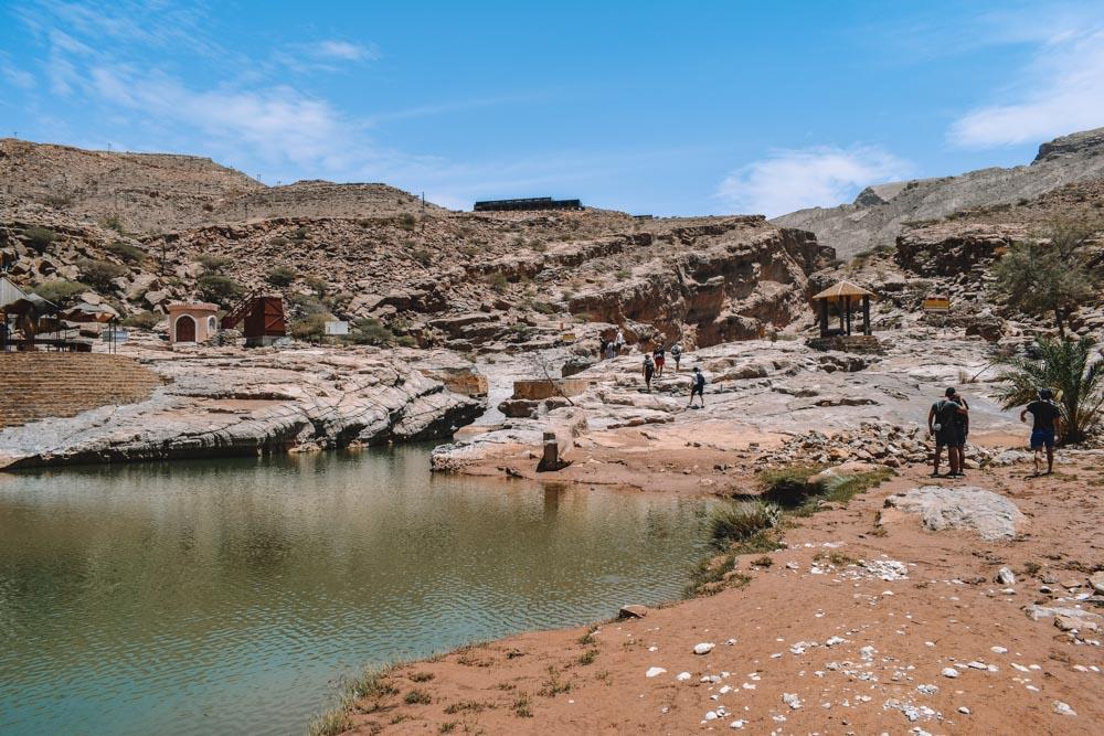 The start of the Wadi Bani Khalid