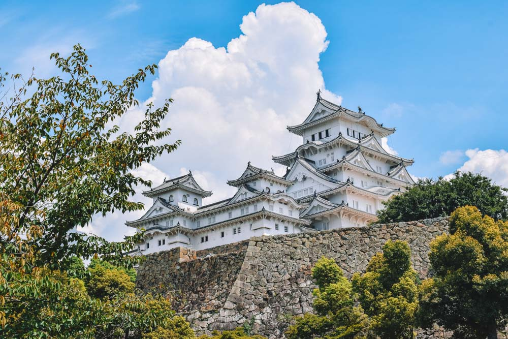 The outside of Himeji Castle