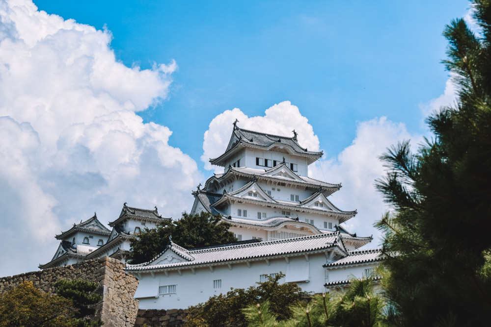 The outside of Himeji Castle