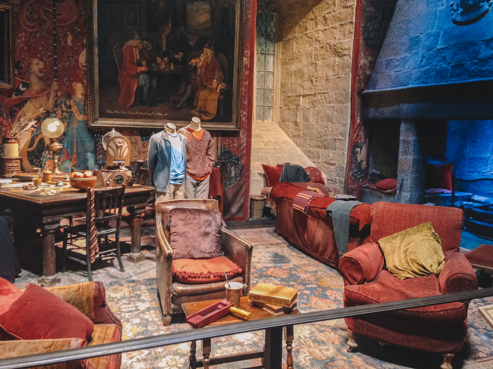 The Gryffindor common room at the Warner Bros studios in London