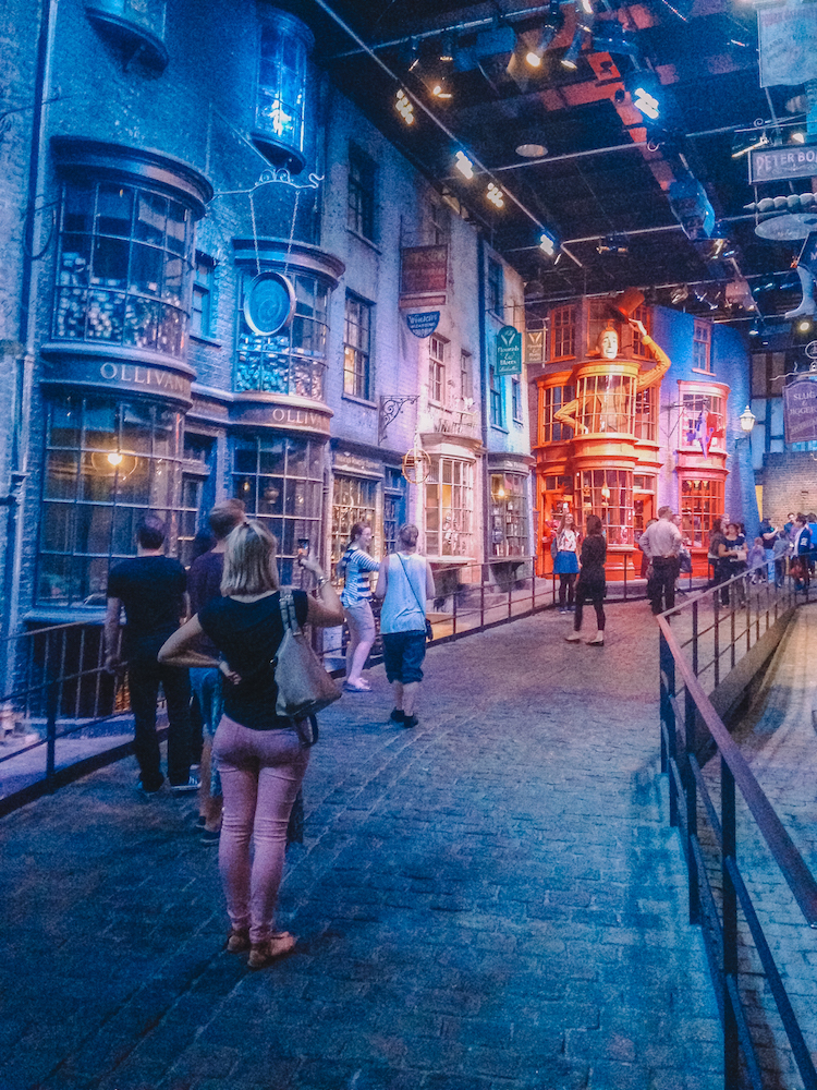 Diagon Alley at the Warner Bros Studios in London