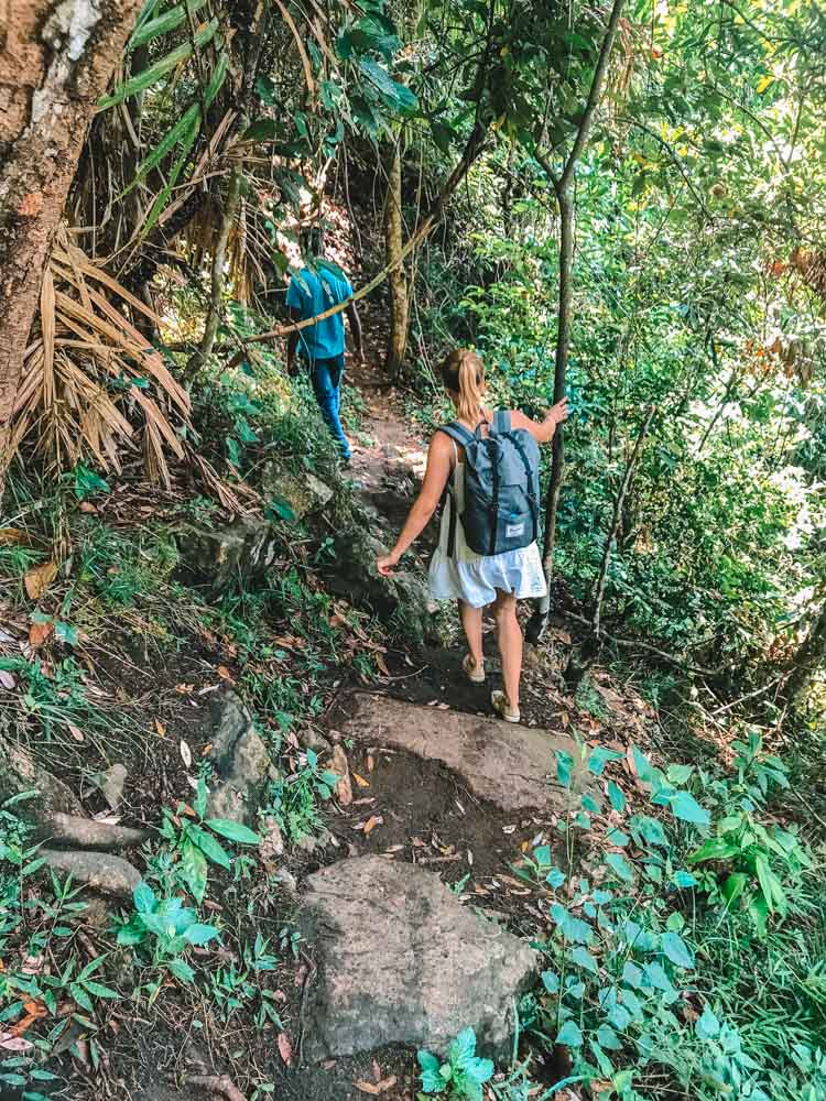 Into the jungle on the way to Diyaluma Falls