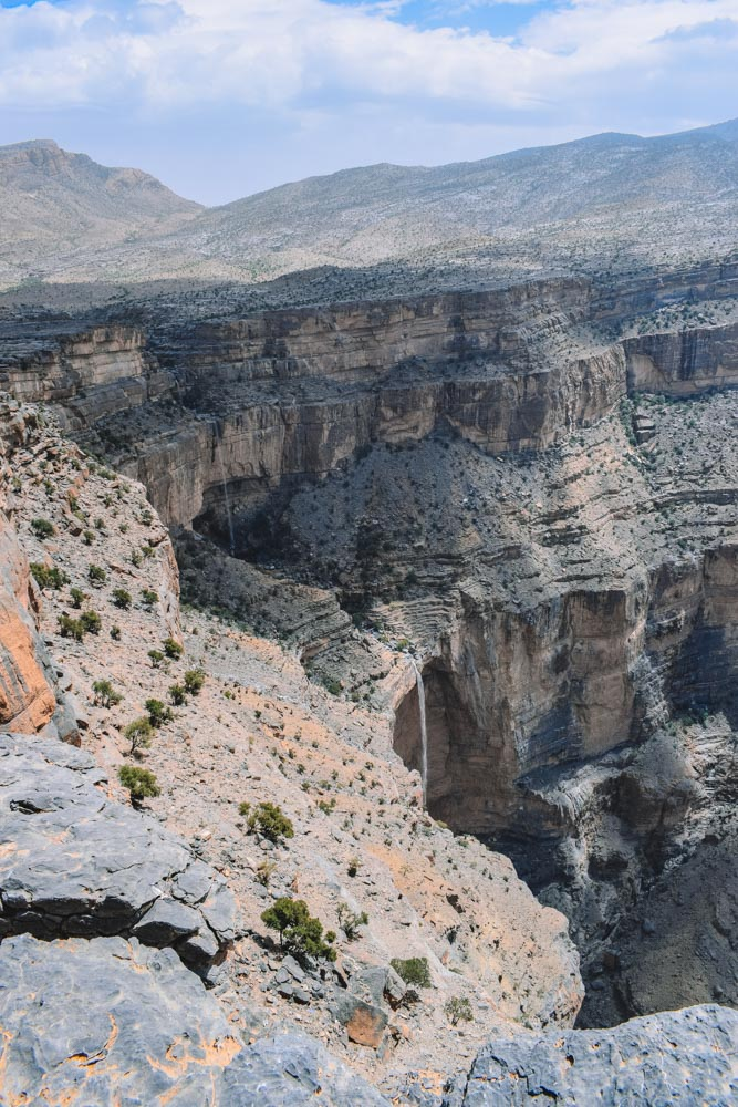 Looking into the Wadi Ghul from the viewpoint
