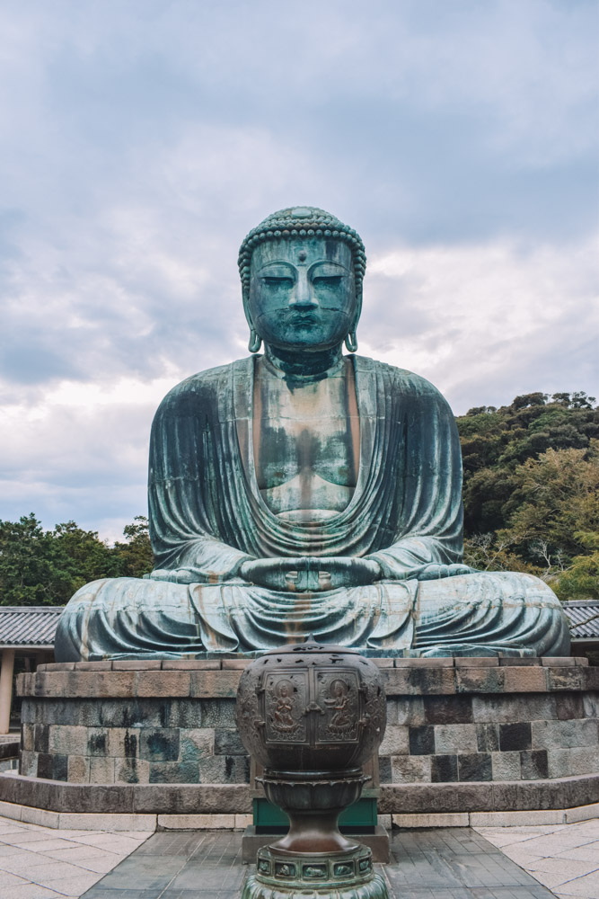 The famous big buddha of Kamakura in Japan