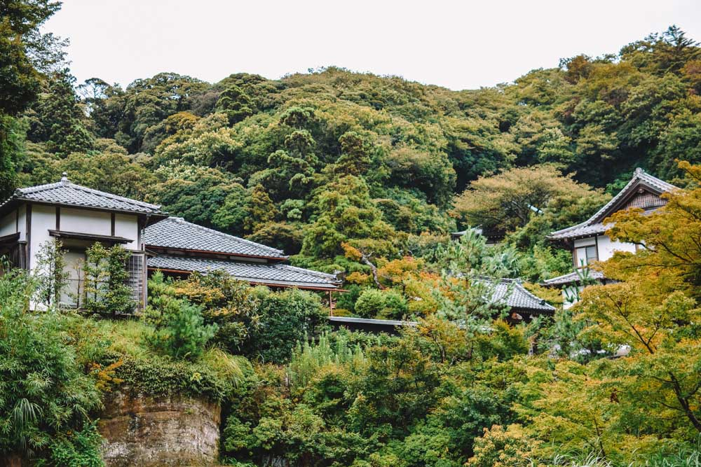 Exploring the gardens of Engakuji temple
