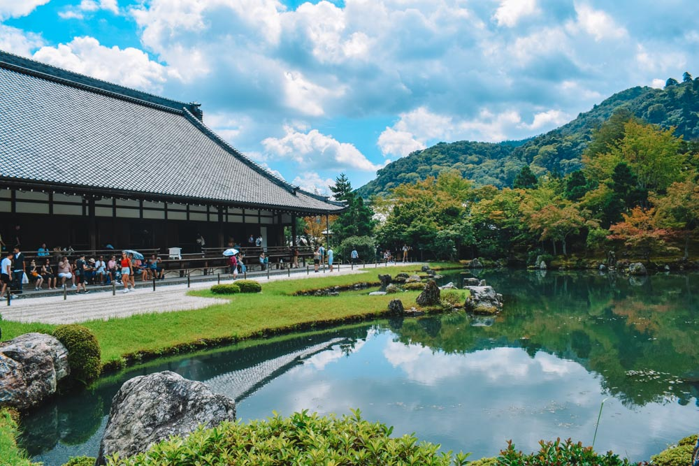 The main garden and temple of Tenryuji temple in Kyoto
