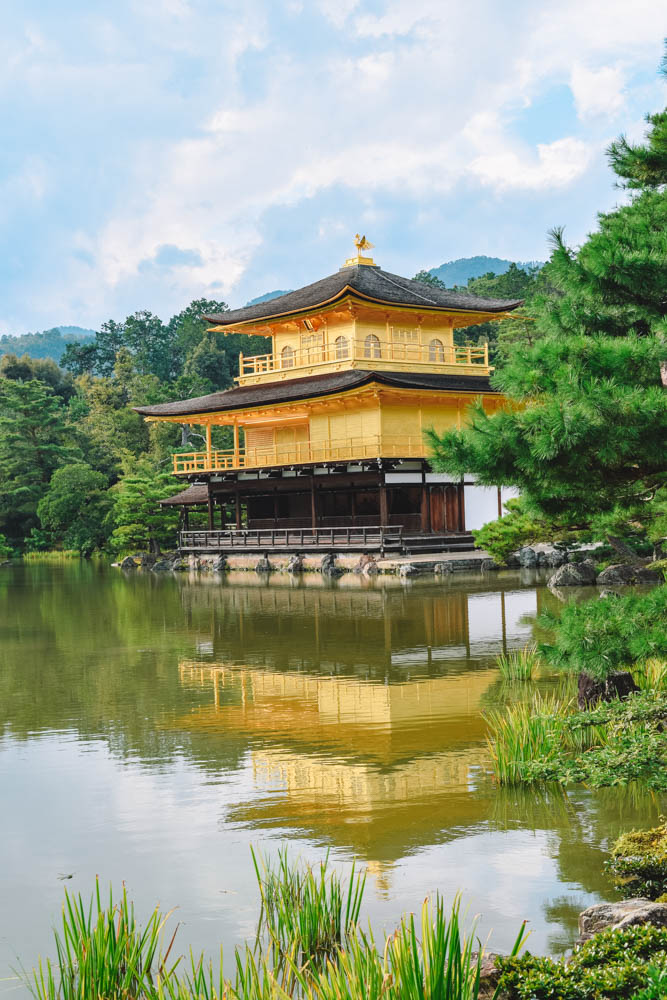 The Kinkaku-ji golden temple in Kyoto