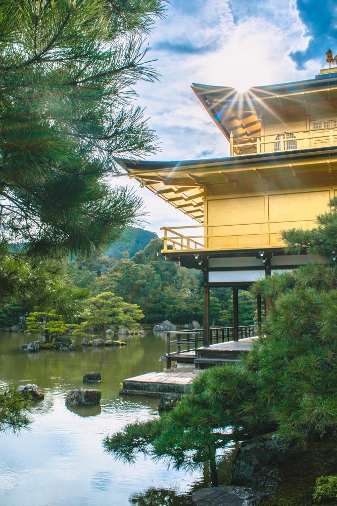 The Kinkaku-ji golden temple in Kyoto