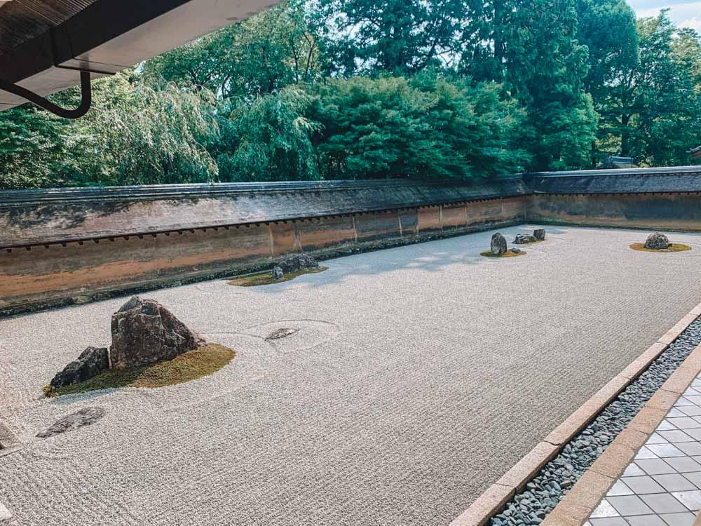The famous zen garden in Kyoto