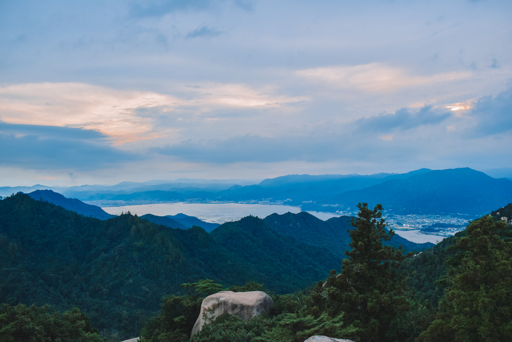 The view from the peak of Mount Misen in Miyajima Island