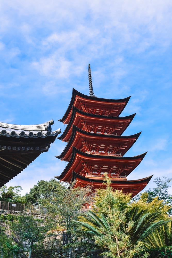 The five story pagoda in Miyajima Island