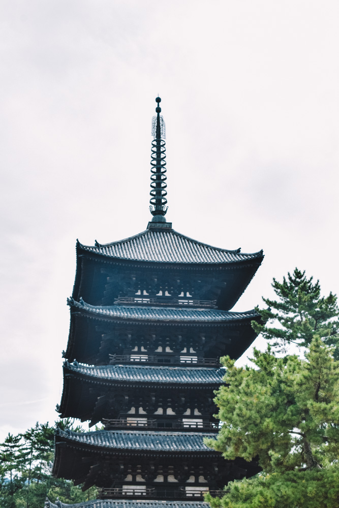 Kofukuji Five-Storied Pagoda in Nara, Japan