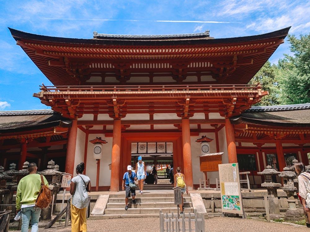 The outside of Kasuga-Taisha Temple in Nara
