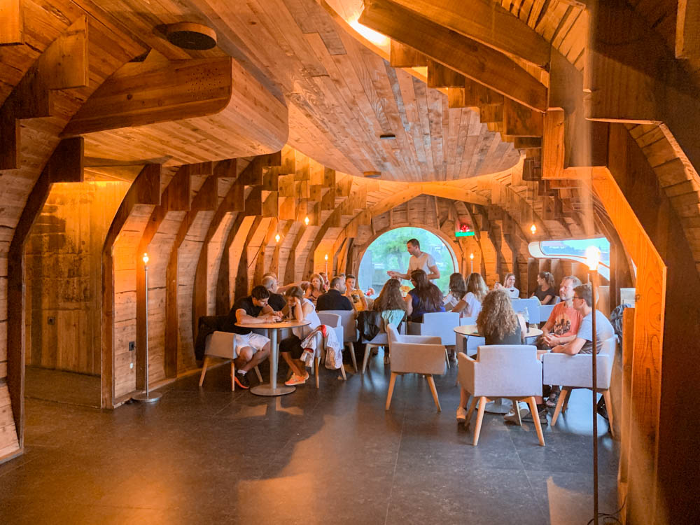 The inside of Cella Bar on Pico Island