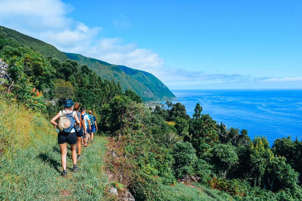 Hiking around Fajã dos Vimes on Sao Jorge Island
