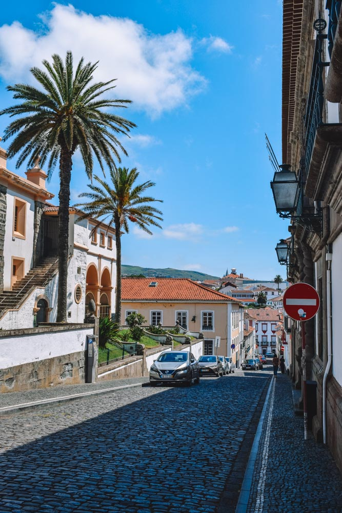 The cute colonial streets of Angra do Heroismo in Terceira Island