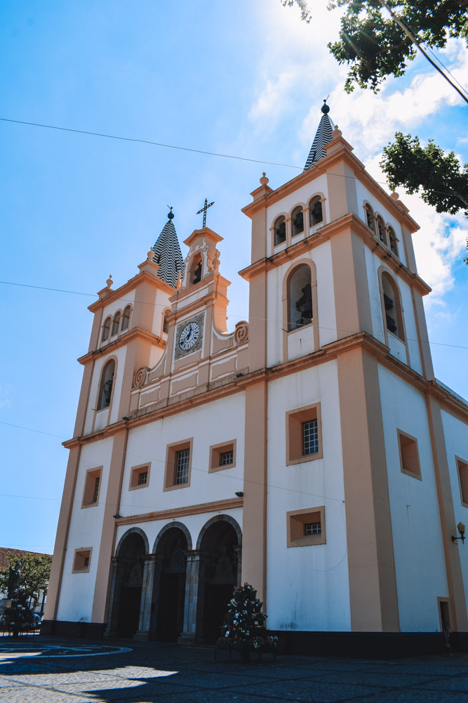 One of the colourful churches of Angra do Heroismo on Terceira Island