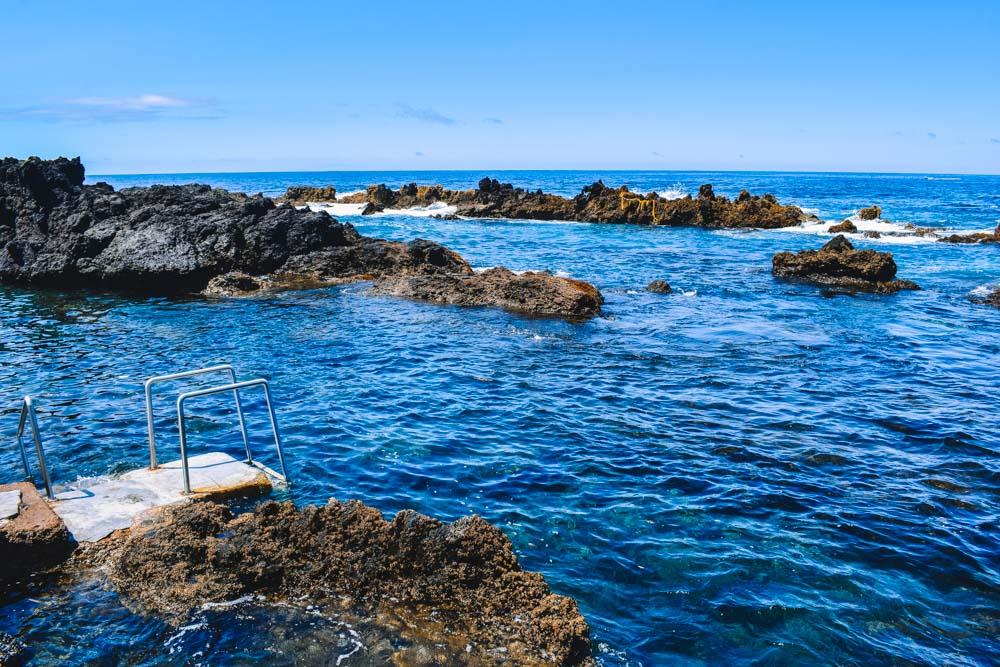 The Biscoitos natural pools on Terceira Island