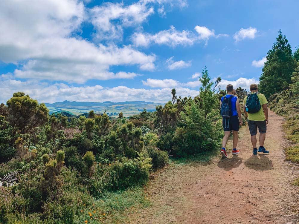 Hiking in the Misterios Negros Reserve in Serreta, on Terceira Island