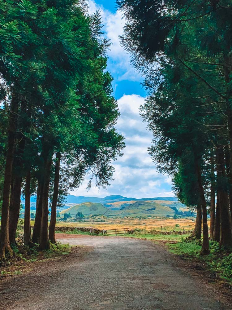 Views over the Natural Reserve of Serra de Santa Bárbara and Mistérios Negros on Terceira Island