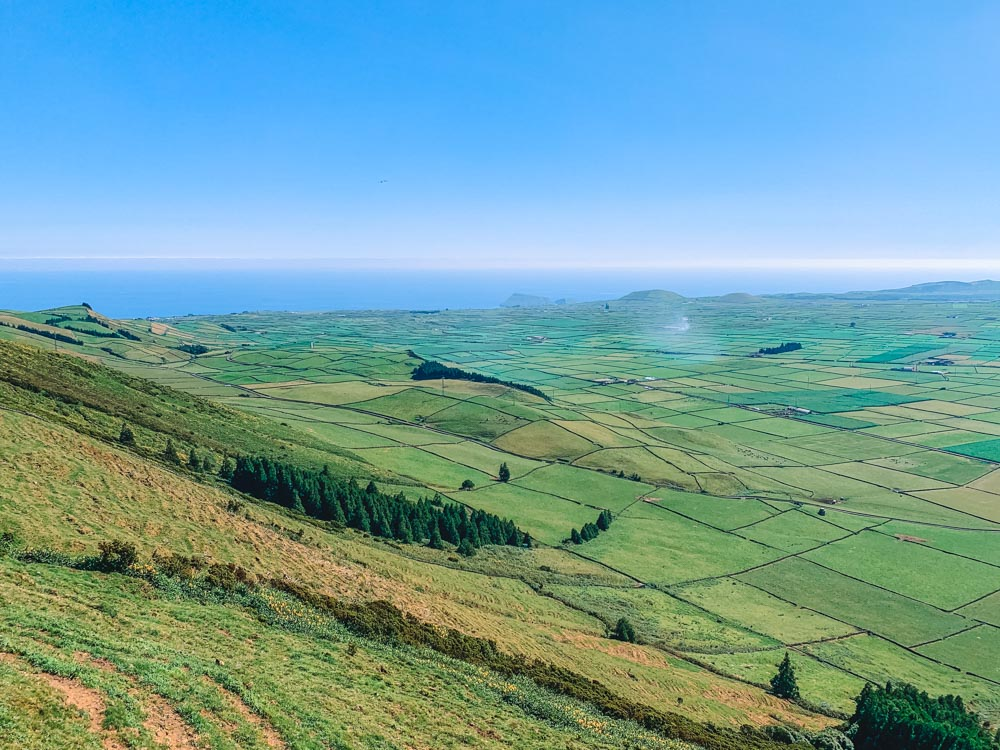 The view from the Miradouro Serra do Cume Viewpoint in Terceira Island