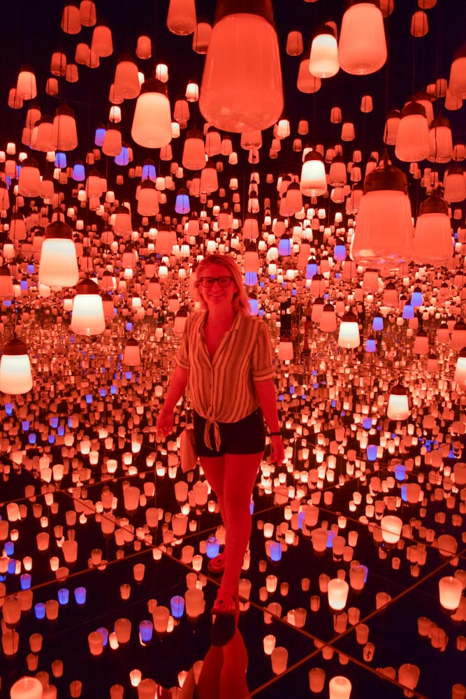 The lantern room at Teamlab Borderless in Tokyo, Japan