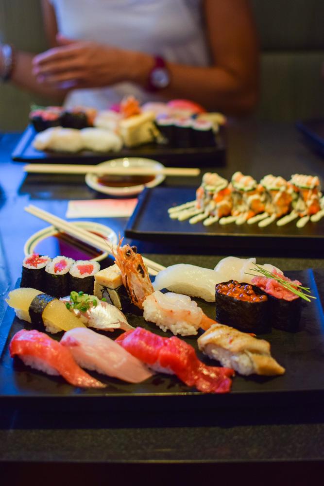 Sushi from Tsukiji fish market in Tokyo