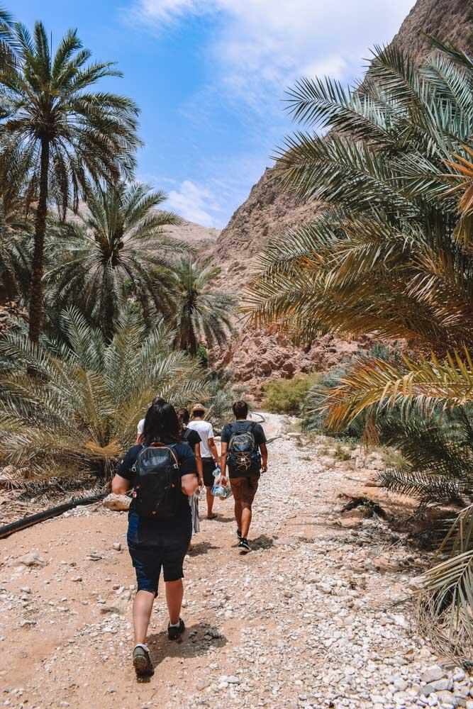 Hiking along Wadi Shab