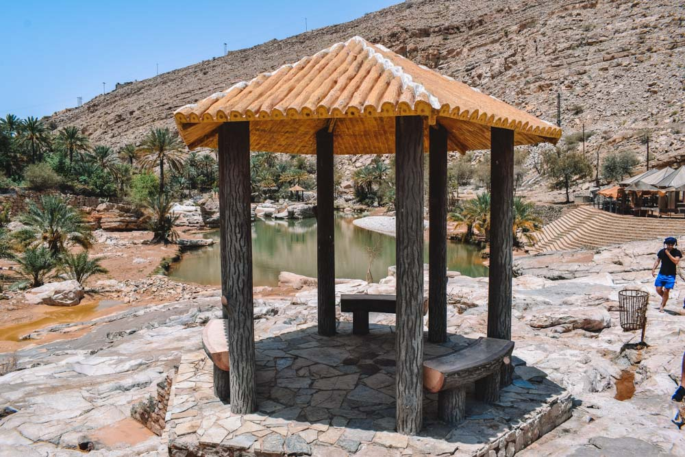 A spot to shelter yourself from the strong Oman sun at Wadi Bani Khalid