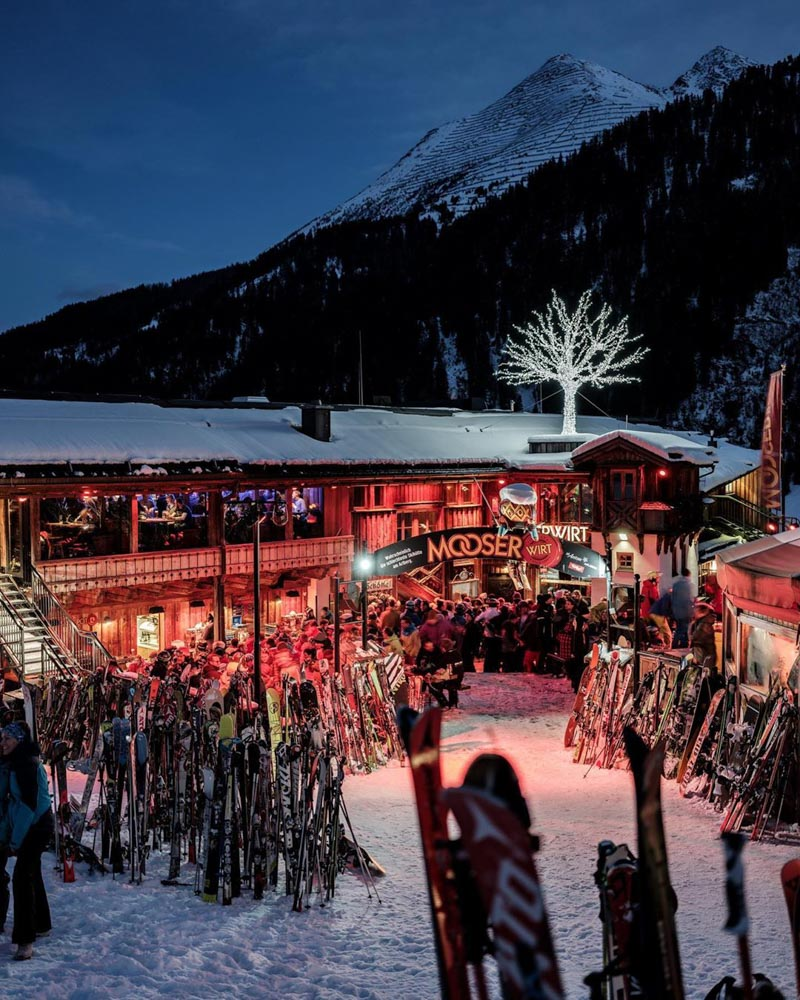 Apres ski at MooserWirt in St Anton am Alberg in Austria, photo by Best of the Alps