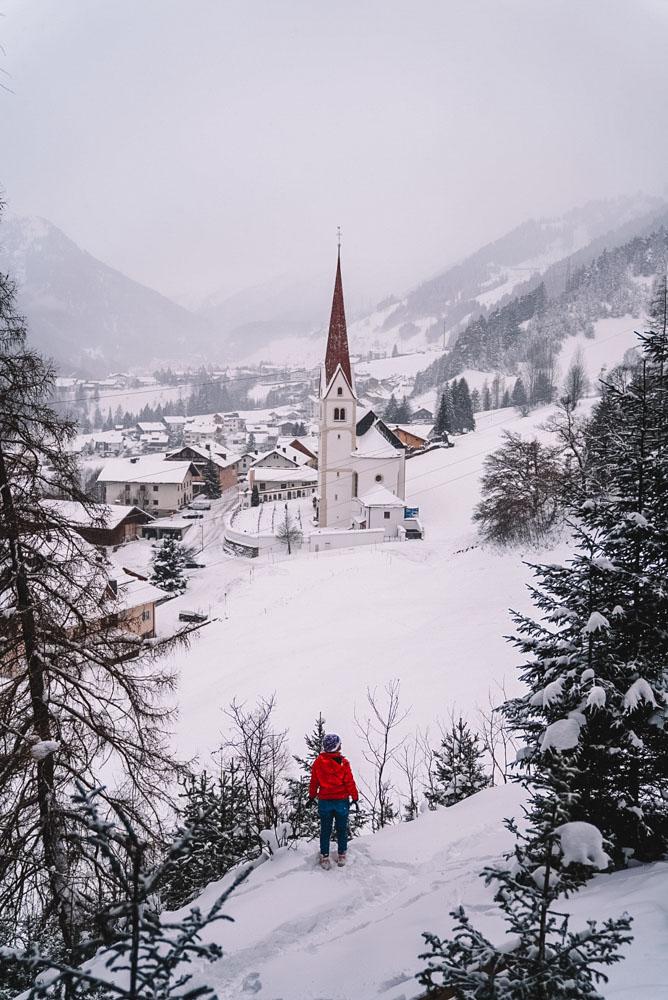 Exploring the surroundings of St Anton am Arlberg in Austria
