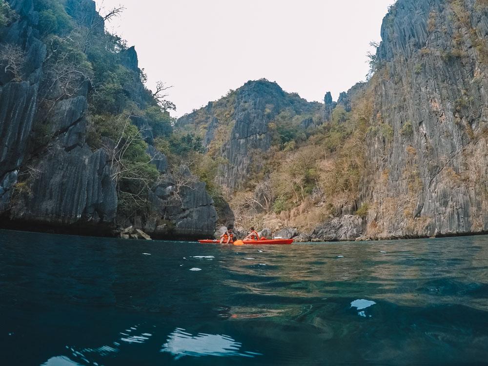 Kayaking in the Twin Lagoons in Coron