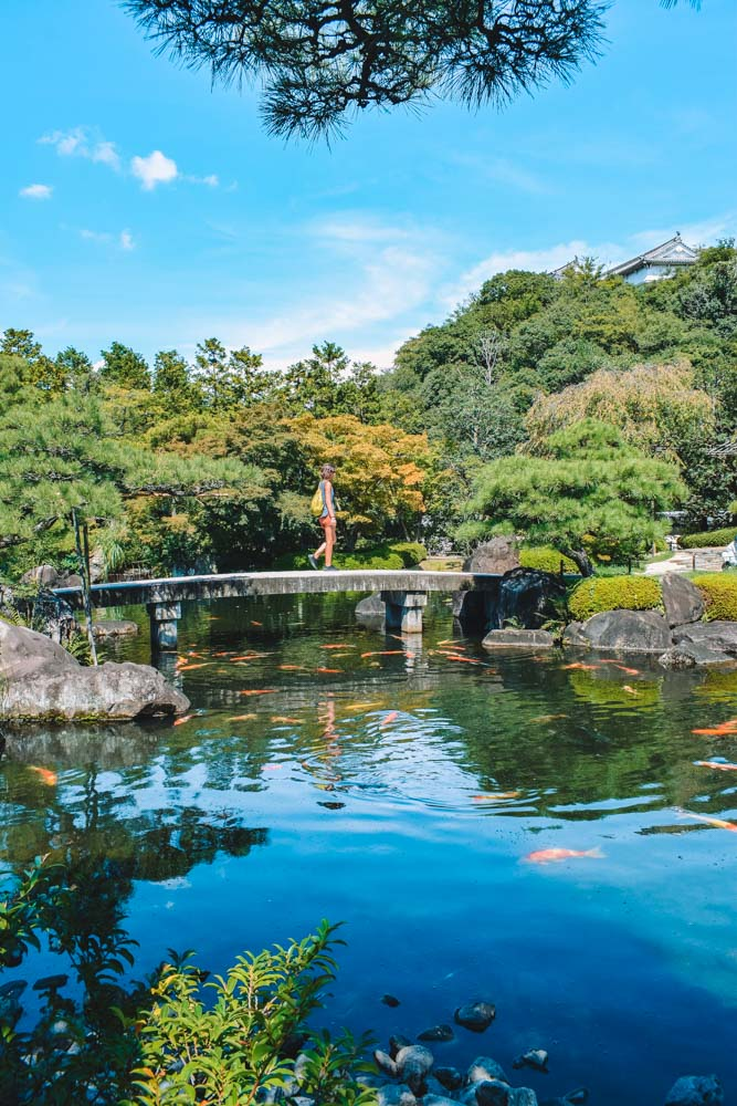 The beautiful gardens of Himeji Castle